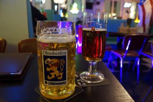 Lecker Löwenbräu und Becks Pale Ale.
