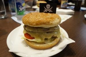Double Cheeseburger (wie Baconburger nur mit 2 mal Patty und Käse und ohne Bacon)